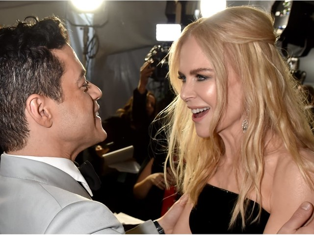 That Awkward Globes Moment Appears Forgotten as Rami Malek and Nicole Kidman Hug It Out