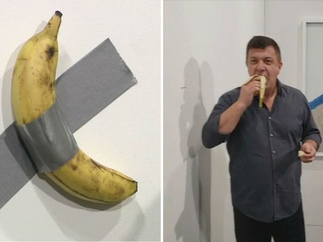 NYC artist who ate $120K banana off wall at Miami gallery says he would do it again