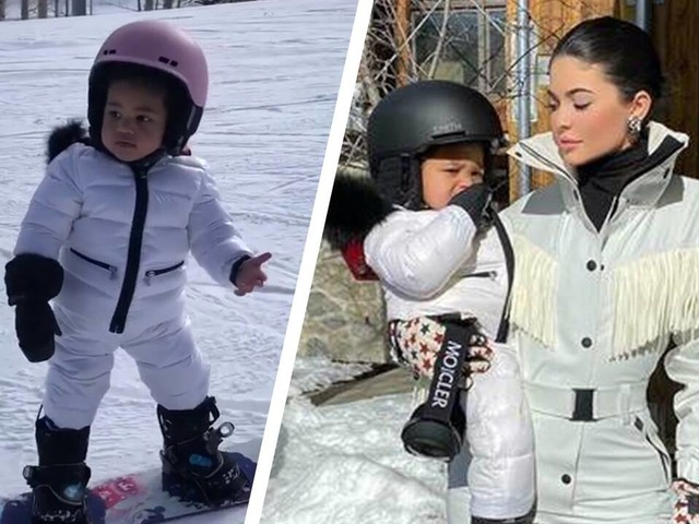 Kylie Jenner Shows Off Stormi's Snowboarding Skills