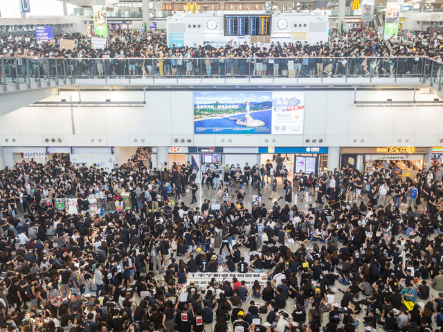 Massive Airport Protests Cause Cancellation of All Flights Leaving Hong Kong