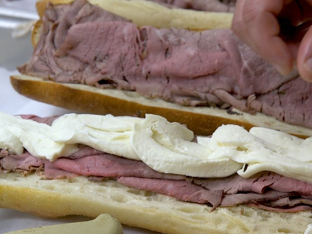 A 100-year-old bakery outside NYC is famous for a roast beef and mutz sandwich