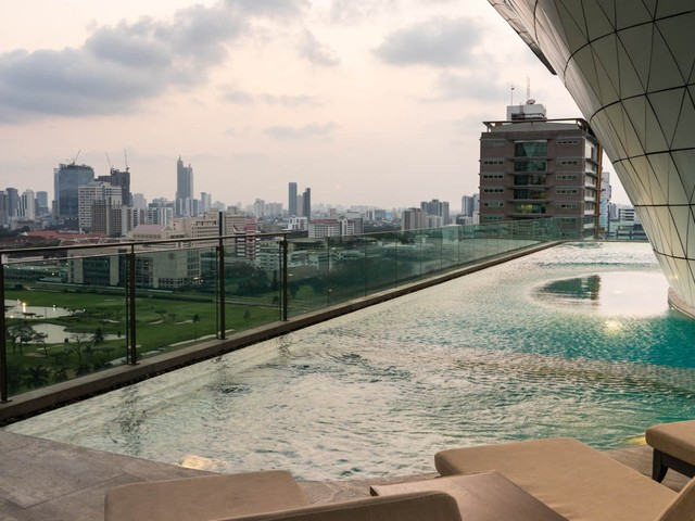 I stayed in the brand-new Waldorf Astoria in Bangkok, and thought it was the perfect respite in a city known for chaos