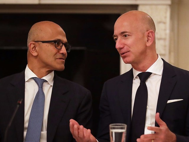 Microsoft's $10 billion Pentagon contract win changes everything in the cloud wars with Amazon. Here's what you need to know. (MSFT, AMZN)