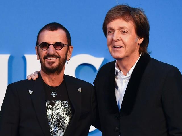 Paul McCartney, Ringo Starr Reunite At Dodger Stadium