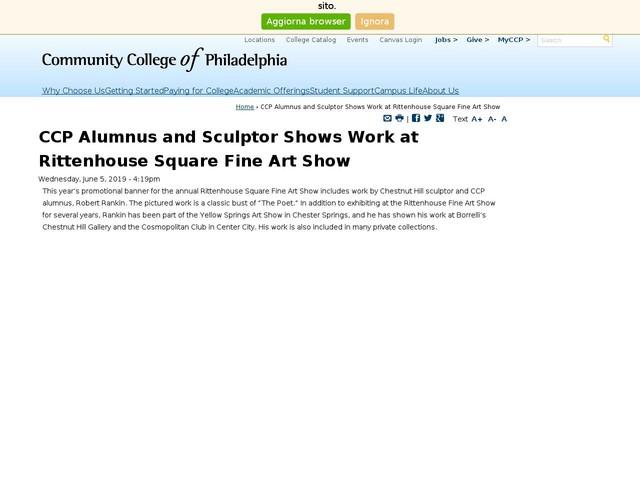 CCP Alumnus and Sculptor Shows Work at Rittenhouse Square Fine Art Show