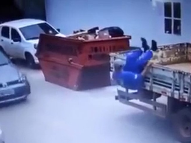 Man Almost Falls From Truck