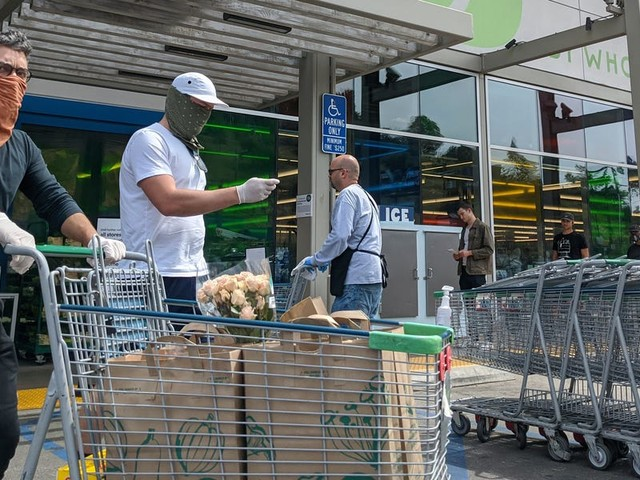 Whole Foods employees are among the first retail workers to get face shields — in addition to masks — amid growing infections on the front lines of the pandemic