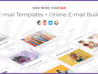 Weekly | Responsive Email Newsletter Template with Online Email Builder (Newsletters)