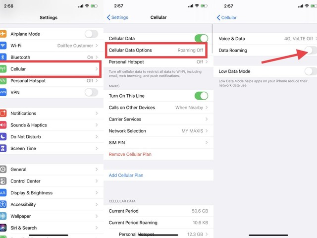 How To Turn Off Data Roaming On iPhone