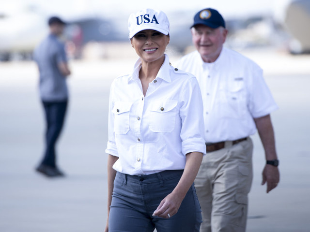 What Melania Trump wore her 91st week as first lady — including when she had to get off that plane