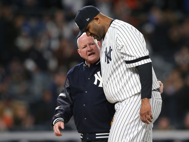 Yankees' CC Sabathia goes out in perfect style, leaving his all on the field
