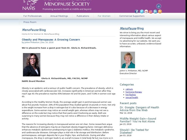Obesity and Menopause: A Growing Concern