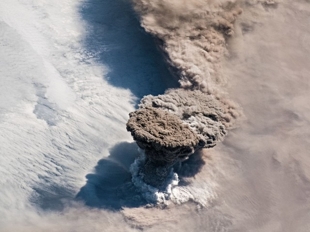 Astronauts Capture Volcano Erupting After Nearly a Century of Silence