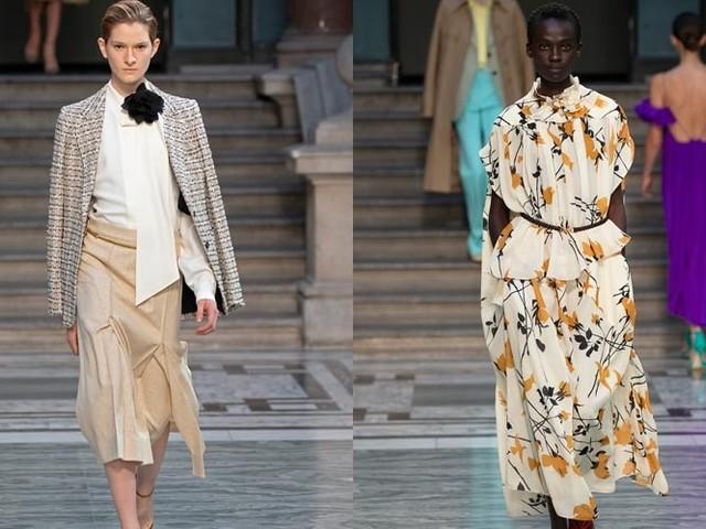 Dresses flow for Beckham, billow for Goddard: London fashion trends