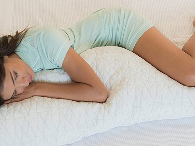 This $70 shredded memory foam body pillow has kept me cool and comfortable for 60 nights