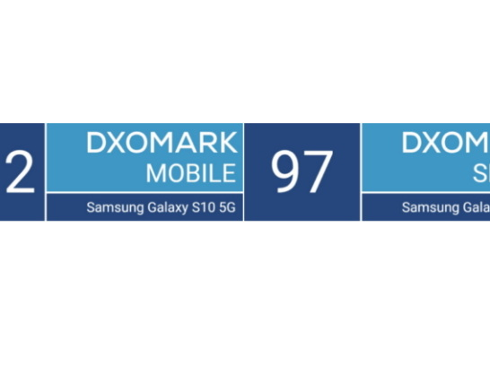 Samsung Galaxy S10 5G's Rear and Selfie Cameras Score First Place in DxOMark Ranking, the First Smartphone to Hit 100 Bar in Video