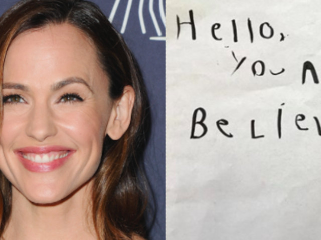 Jennifer Garner Shares Precious 'Love Note' Written By 5-Year-Old Son