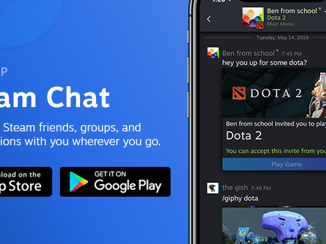 Valve releases Steam Chat app for iOS and Android