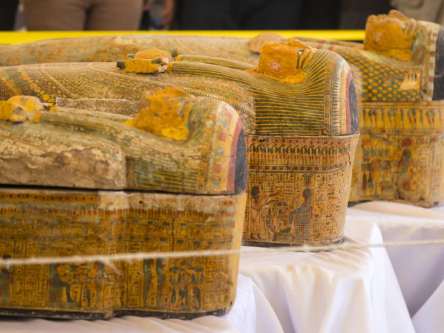 Egypt uncovers largest trove of ancient coffins with mummies in over a century