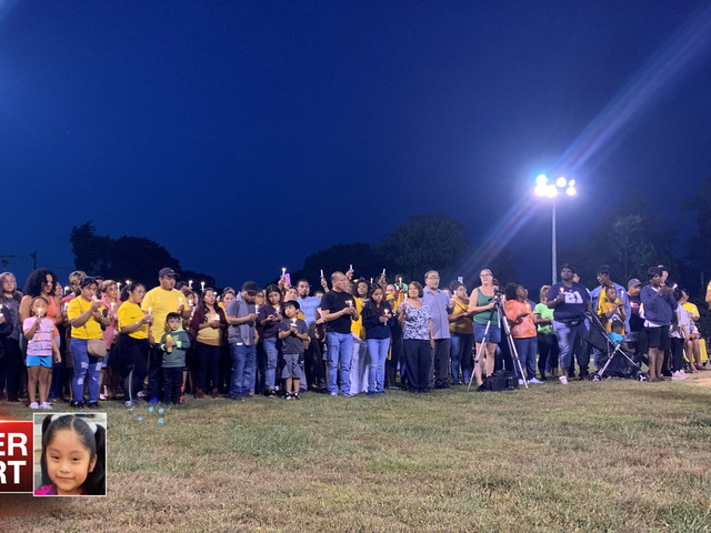 Vigil held as search continues for missing NJ girl