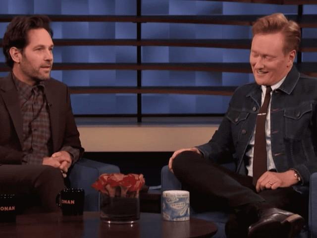 Paul Rudd celebrates 15 years of pranking Conan O'Brien with the same prank