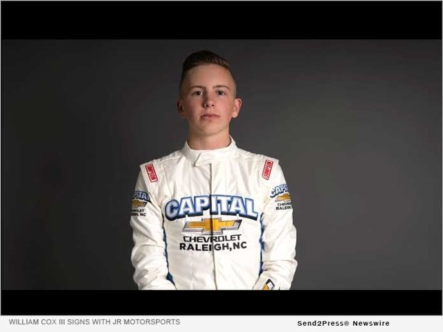 William Cox III Signs with JR Motorsports Late Model Team
