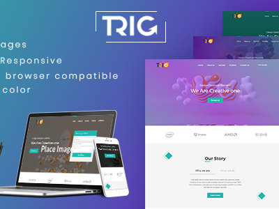 Trig - One Page Agency Landing Page (Site Templates)