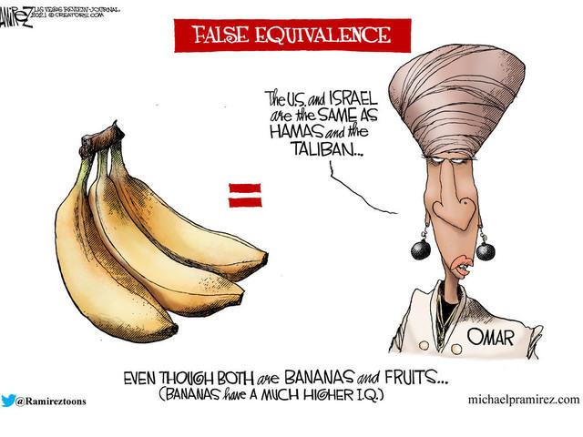 CARTOON: Rep. Omar's false equivalence