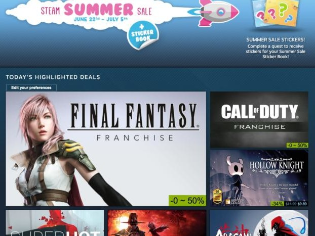 Steam's Summer Sale kicks off with a $15 Steam Link, game discounts galore, and digital stickers