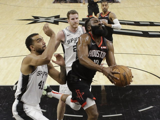 James Harden's dunk was good, but officials blew the call. Rockets ask for a do-over.