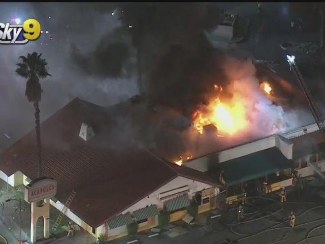 Fire Crews Battle Stubborn Blaze At Shuttered Sun Valley Restaurant