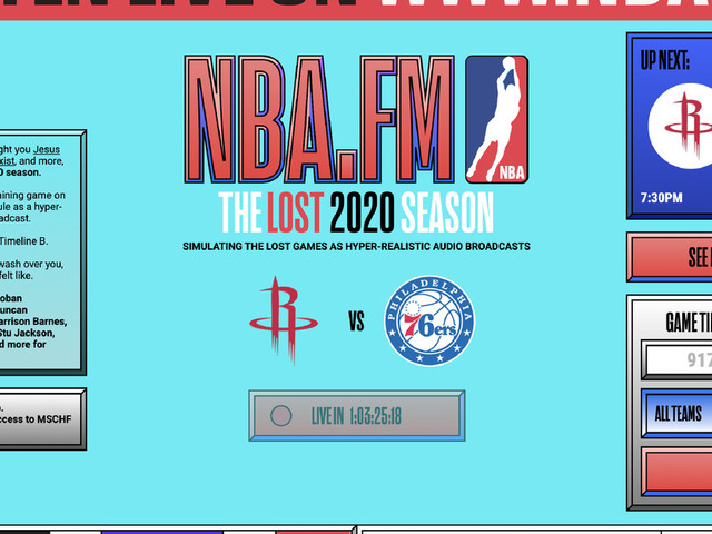 NBA.FM will try to simulate the 2020 season as if everything is fine