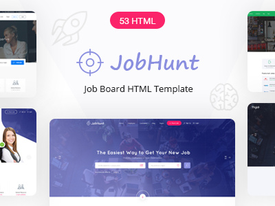 jobhunt html template  JobHunt - Job Board HTML Template (Business) - Other - Anygator.com