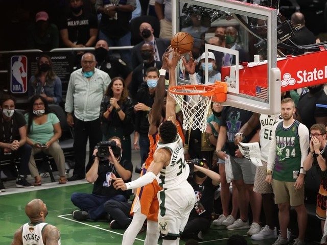 Giannis Antetokounmpo's block gave the Bucks a chance in the NBA Finals