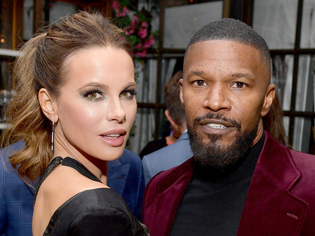 Kate Beckinsale Hangs Out with Jamie Foxx at HFPA's Pre-Golden Globes 2020 Event!
