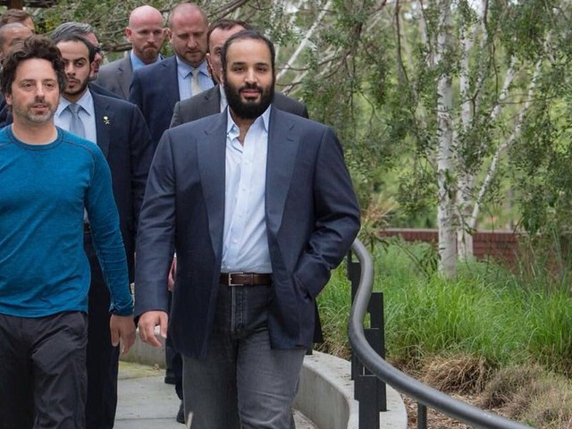 The Saudi Crown Prince accused of hacking Jeff Bezos' phone met with more than a dozen tech execs and celebs during the same US trip. From Tim Cook to Oprah, here's everyone Mohammed bin Salman met with.