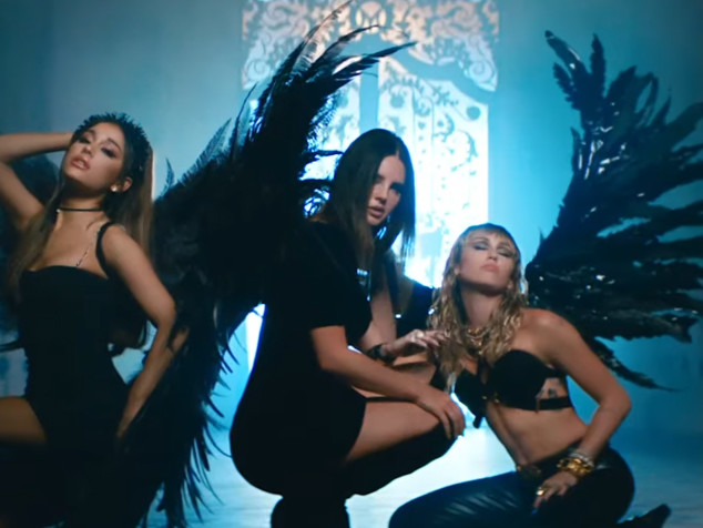 Ariana Grande, Miley Cyrus, & Lana Del Rey in 'Don't Call Me Angel' Music Video - Watch Now!