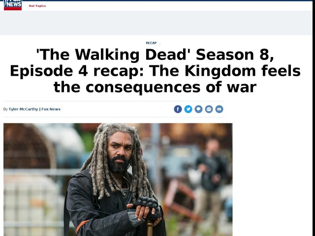 'The Walking Dead' Season 8, Episode 4 recap: The Kingdom feels the consequences of war