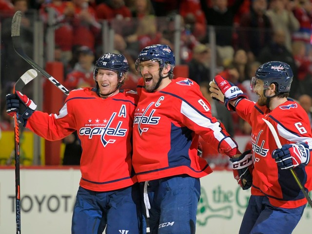 Alex Ovechkin's first hat trick this season leads Capitals to a rout of the Red Wings