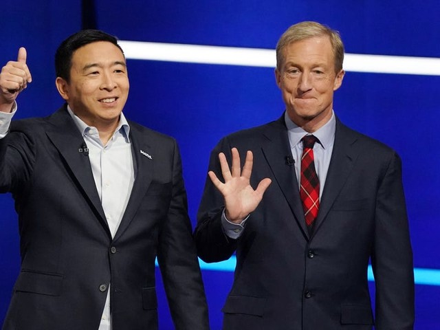 Presidential contender Andrew Yang has had considerably low speaking times at Democratic debates compared to his strong polling