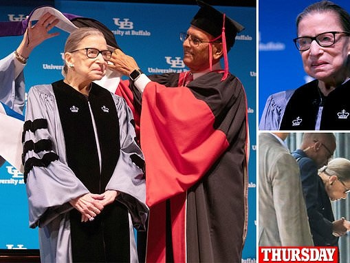 Ruth Bader Ginsburg makes first appearance since revealing treatment for pancreatic cancer
