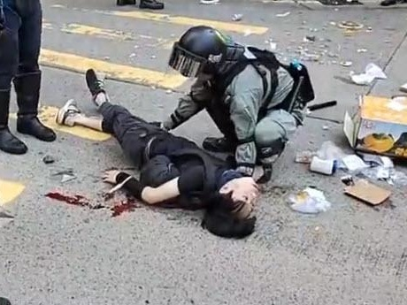 Caught On Video: Hong Kong Protester Shot By Police During Morning Clashes; Hang Seng Tumbles
