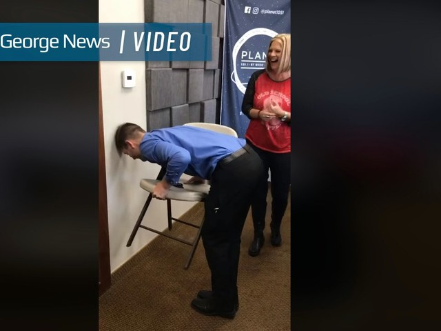 Local radio station's video goes viral after 'chair challenge' takes internet by storm