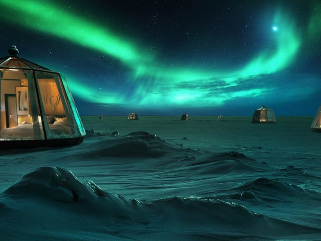 An adventure travel company is opening an igloo hotel at the North Pole, but it'll cost you $100,000 to stay there. Here's a look at the world's northernmost hotel.