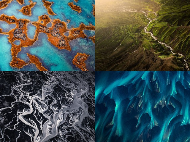 Paintings from the Sky: Aerial Photos of Iceland