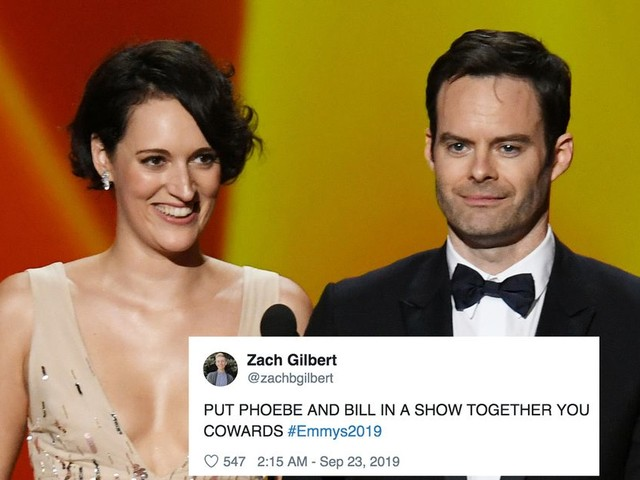 Phoebe Waller-Bridge and Bill Hader are the internet's new favourite team