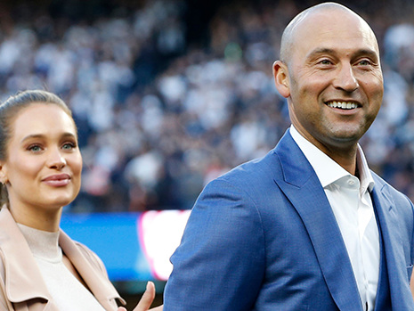 Derek Jeter Gives Rare Look At Kids Bella, 2, & Story, 11 Mos., To Celebrate Hall Of Fame Announcement