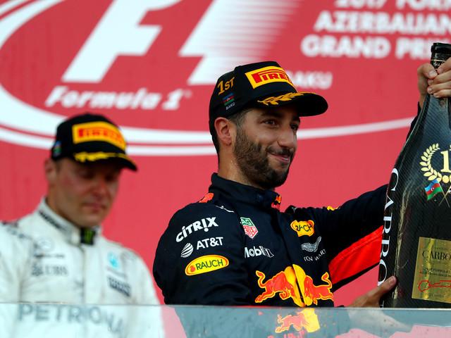 Daniel Ricciardo wins a wild Azerbaijan Grand Prix
