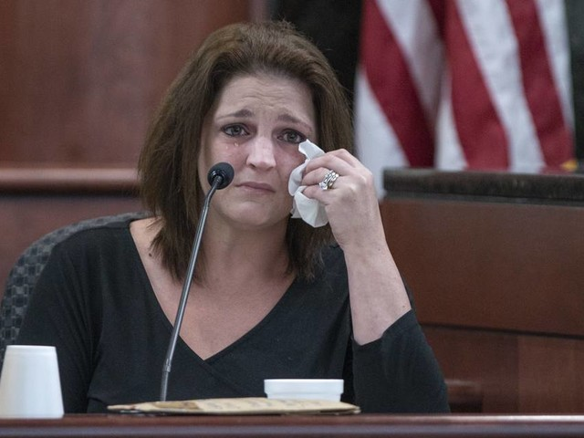 'My babies! Oh God!' Ex-wife of child killer Tim Jones collapses on witness stand
