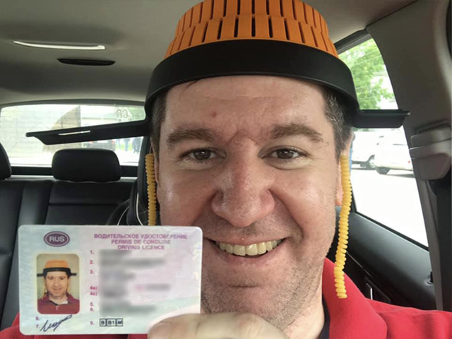 Follower of Flying Spaghetti Monster allowed to wear COLANDER in Russian driver's license photo
